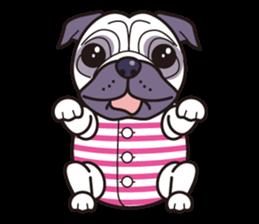 愛犬「パグ」の1日 - LINE クリエイターズスタンプ