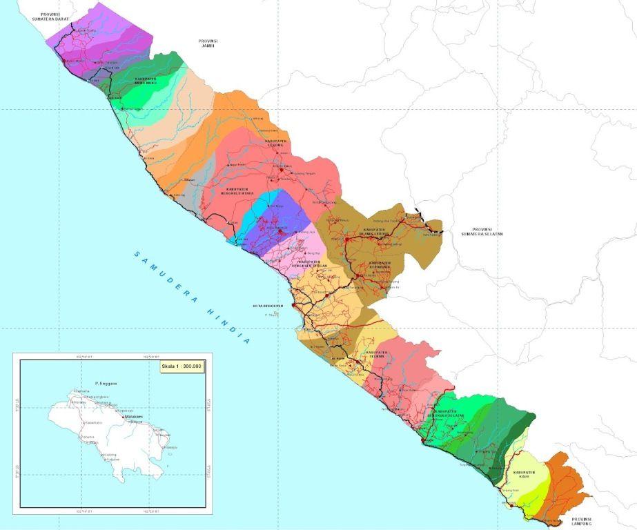 Peta Provinsi Bengkulu Desain