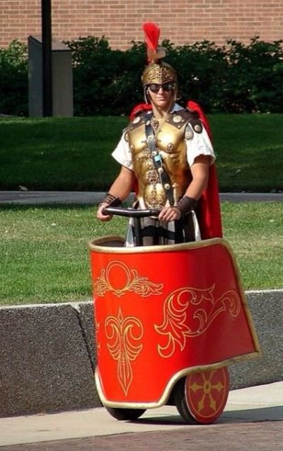 This man knows how to ride a Segway!