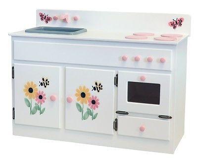 KITCHEN SINK STOVE & OVEN Amish Handmade Play Kitchen Furniture ...