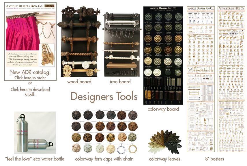 Designer Tools Antique Drapery Rod Co Drapery Designs Drapery