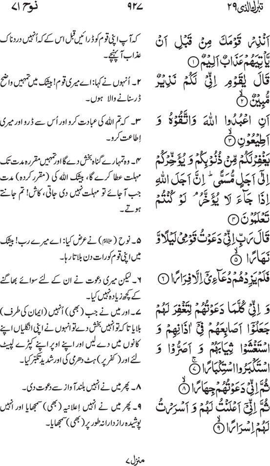 Irfan Ul Quran Part 29 Tabaraka Allathee Page 927 Quran Math