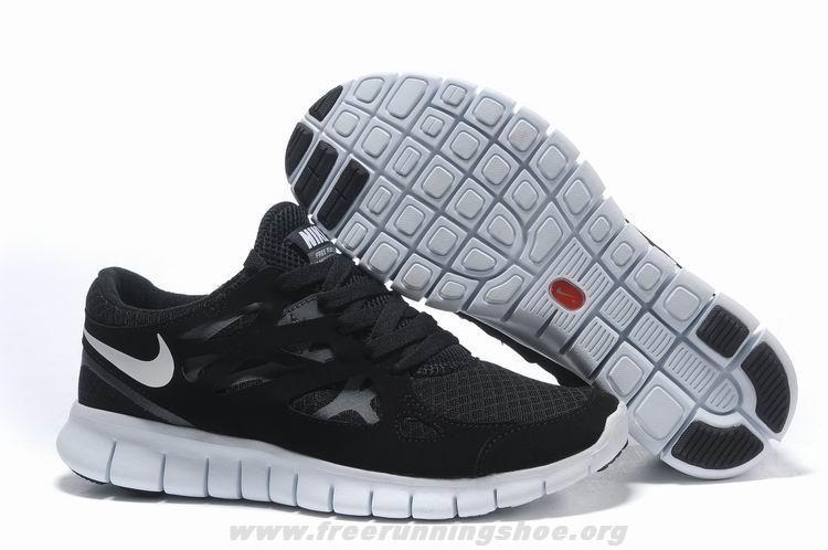 Nike Free Run 2 Mujeres En Blanco Y Negro