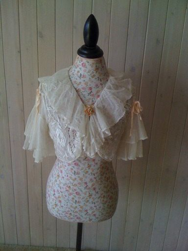 1930s original wedding capelet with Tambour lace by BohoAngels, $560.00