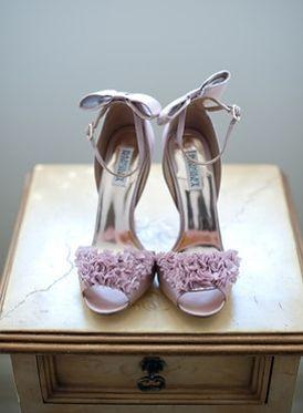 Pretty ruffled lavender shoes