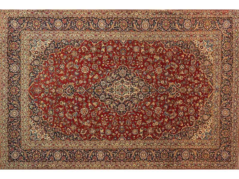Persian Hand Knotted Kashan Carpet 451 X 314 Kashan Rug Antique Carpets Traditional Design