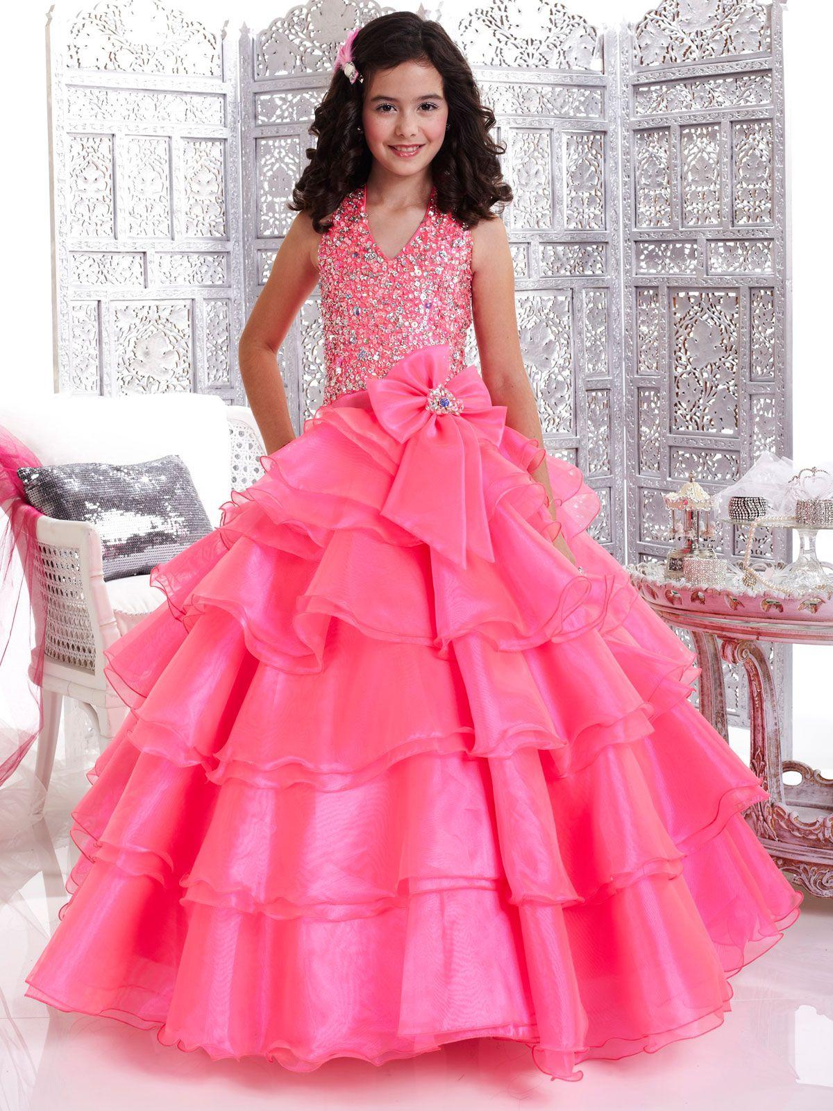Stunning Tiffany Glitz Children Pageant Dress 33428. This organza ...