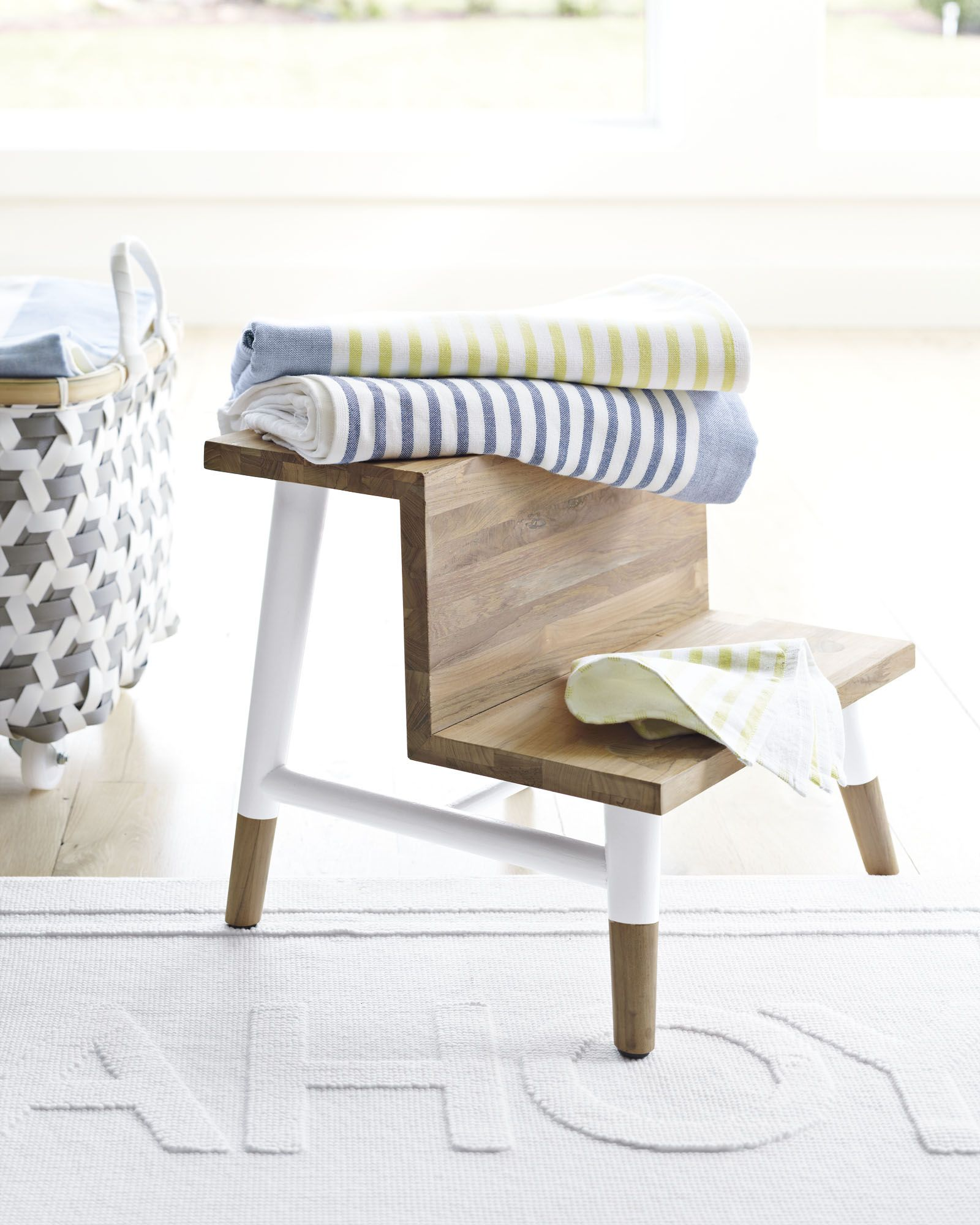 Teak Step StoolTeak Step Stool - Serena and Lily   Products I Love ...