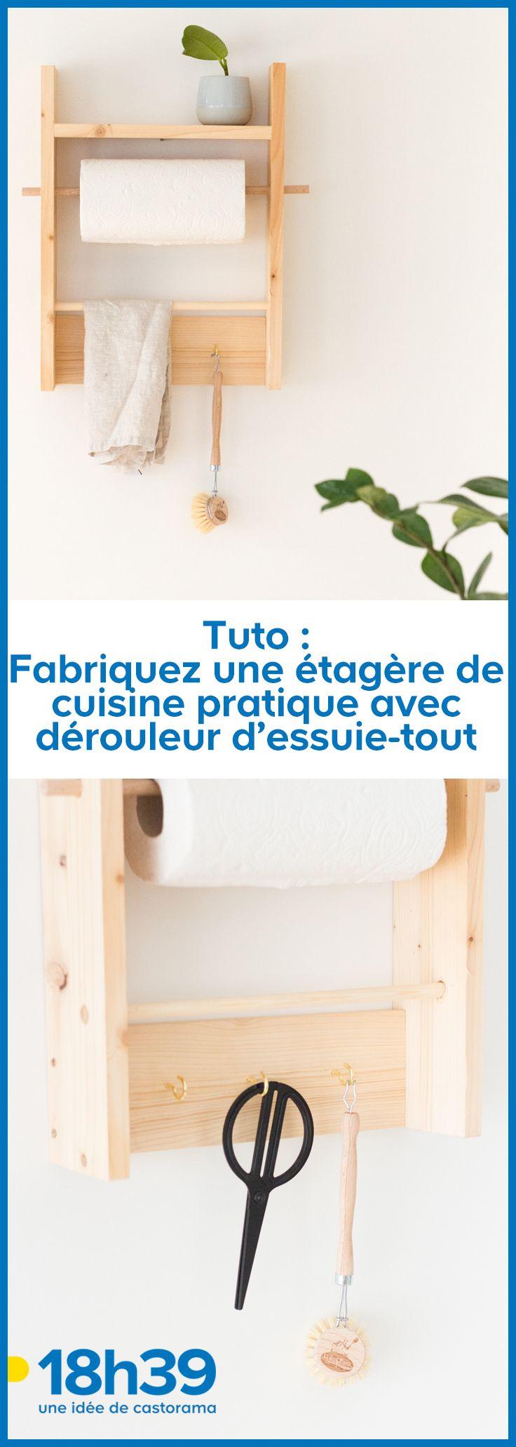 Fabriquer Un Porte Essuie Tout tuto : fabriquez une étagère de cuisine pratique avec