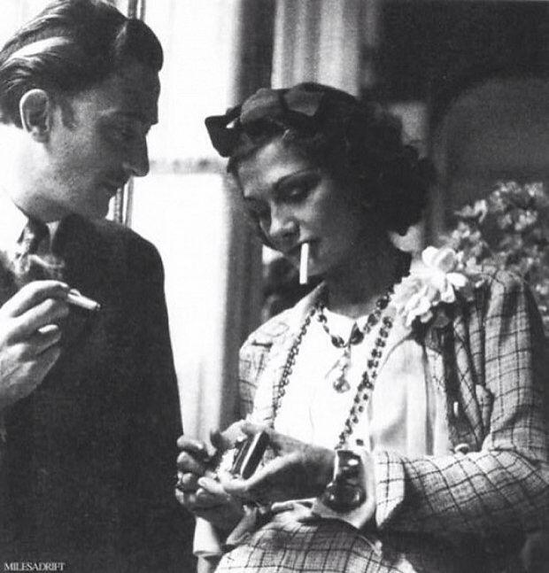 Coco Chanel and Salvador Dali, 1930