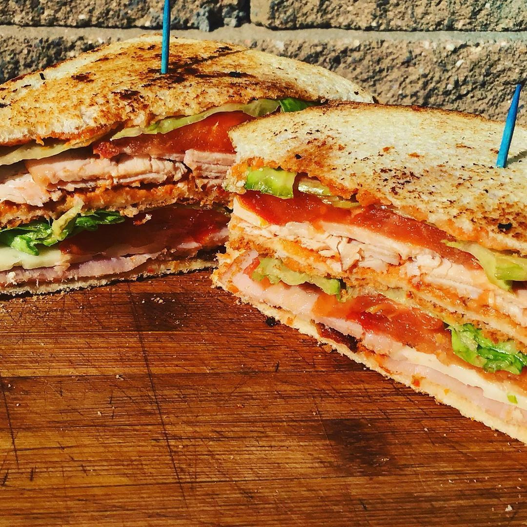 Our Javalato Club sandwich is made with our homemade Aoli and packed full of yummy ingredients including Turkey, Ham, Bacon, Lettuce and Tomato Its super filling and always made to order! Stop by and well be happy to make one just for you