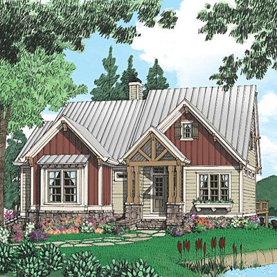 30 Small House Plans That Are Just The Right Size Southern House Plans Southern Living House Plans Mountain House Plans