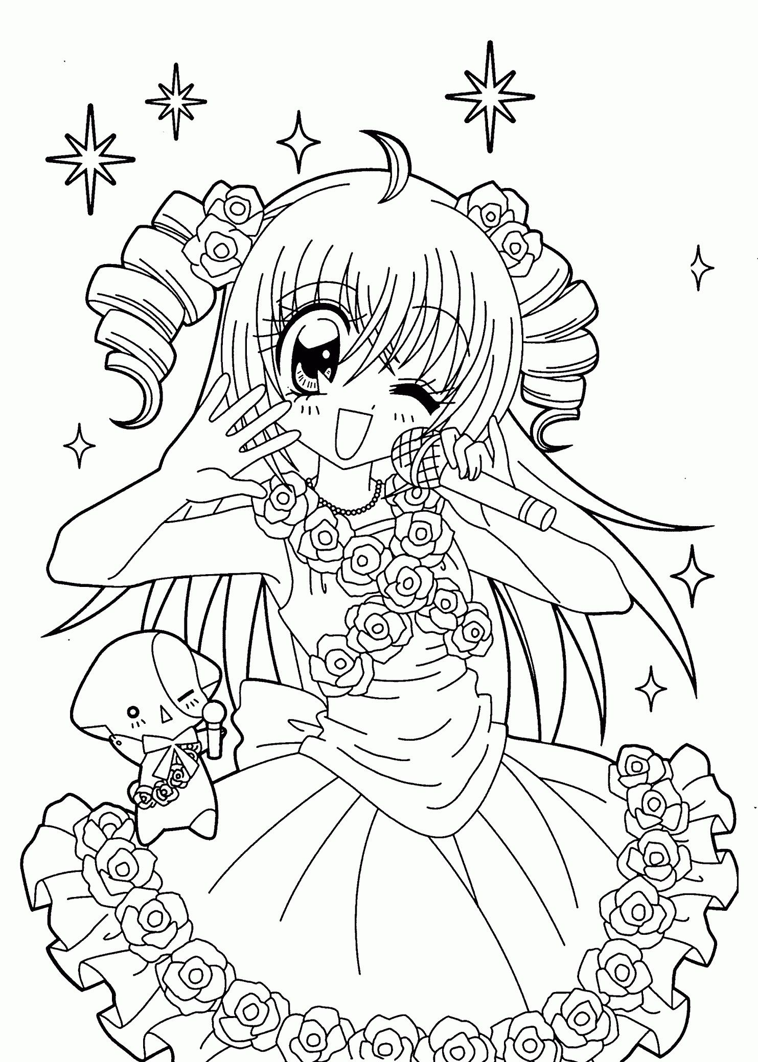 Coloring drawing kilari manga print for coloring page print petite fille en 2019 coloriage - Coloriage manga difficile ...