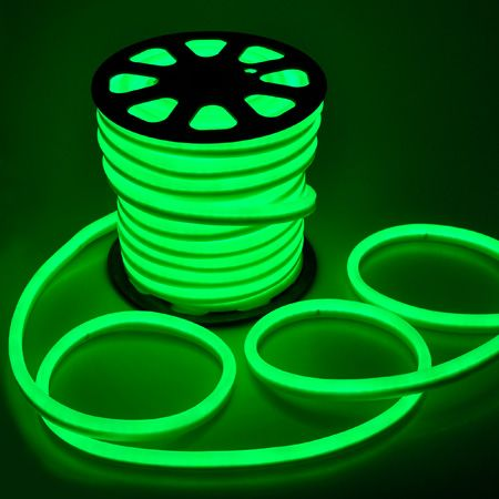 Flex Led Neon Rope Light Green 150 Holiday Decorative Lighting