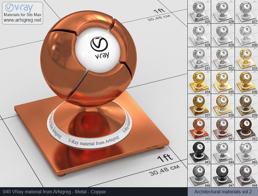 vray metal, vray materials for 3ds max vray | Vray, Vray