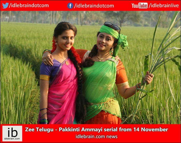 Zee Telugu - Pakkinti Ammayi serial from 14 November www