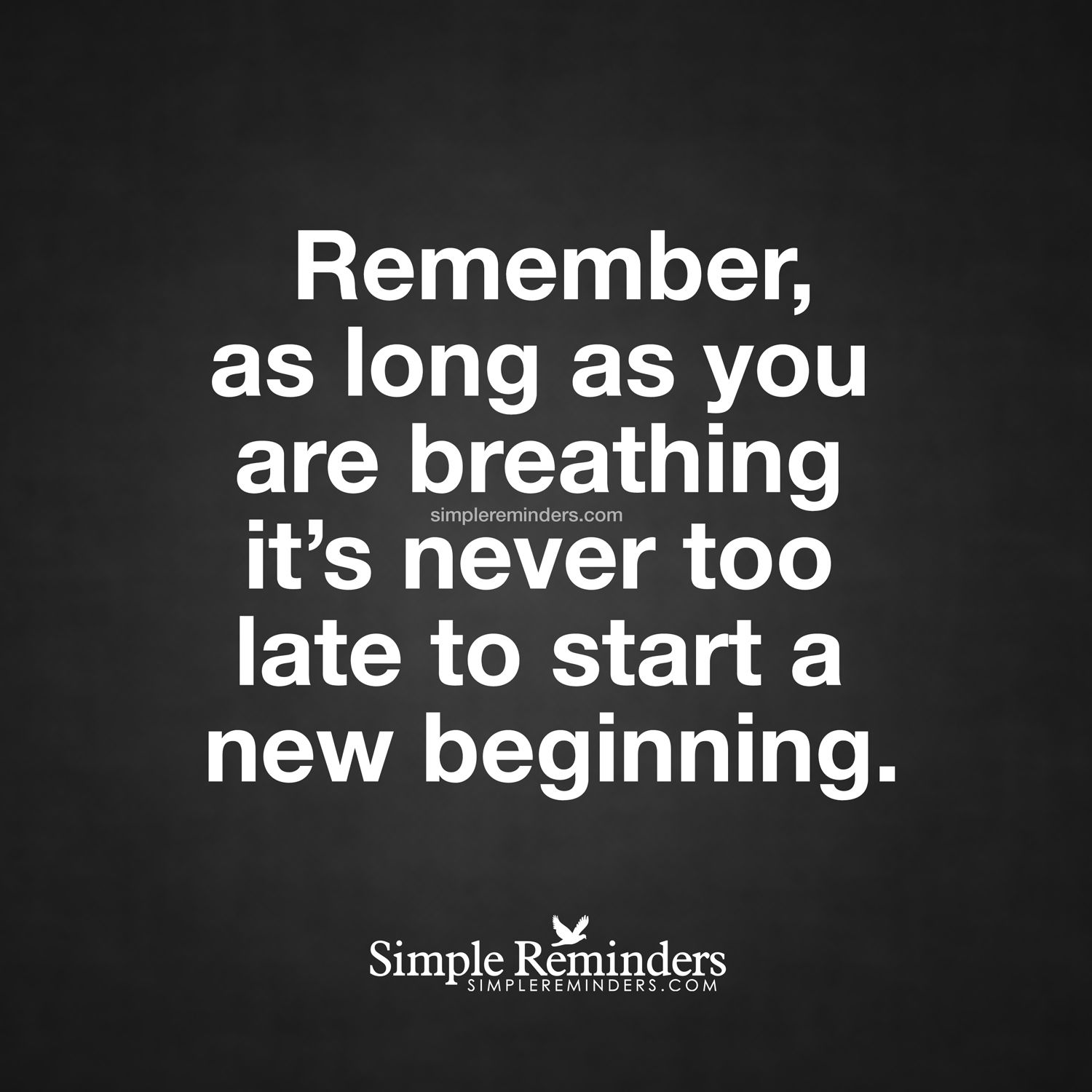 """It is never too late to start"" by Unknown Author"