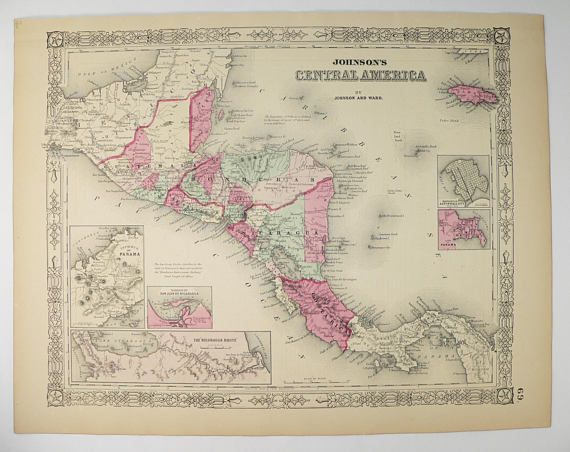 Central America Map Johnson Map Honduras Guatemala Map - Nicaragua map honduras