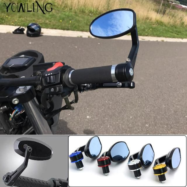 Universal Motorcycle Mirror Aluminum Back View Side Rearview