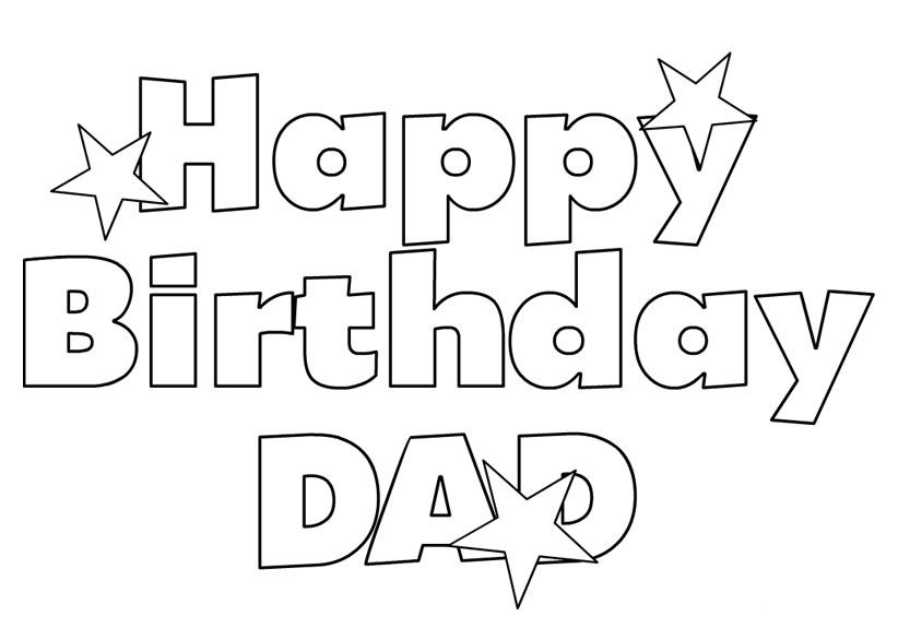 Happy Birthday Coloring Pages Download http://procoloring