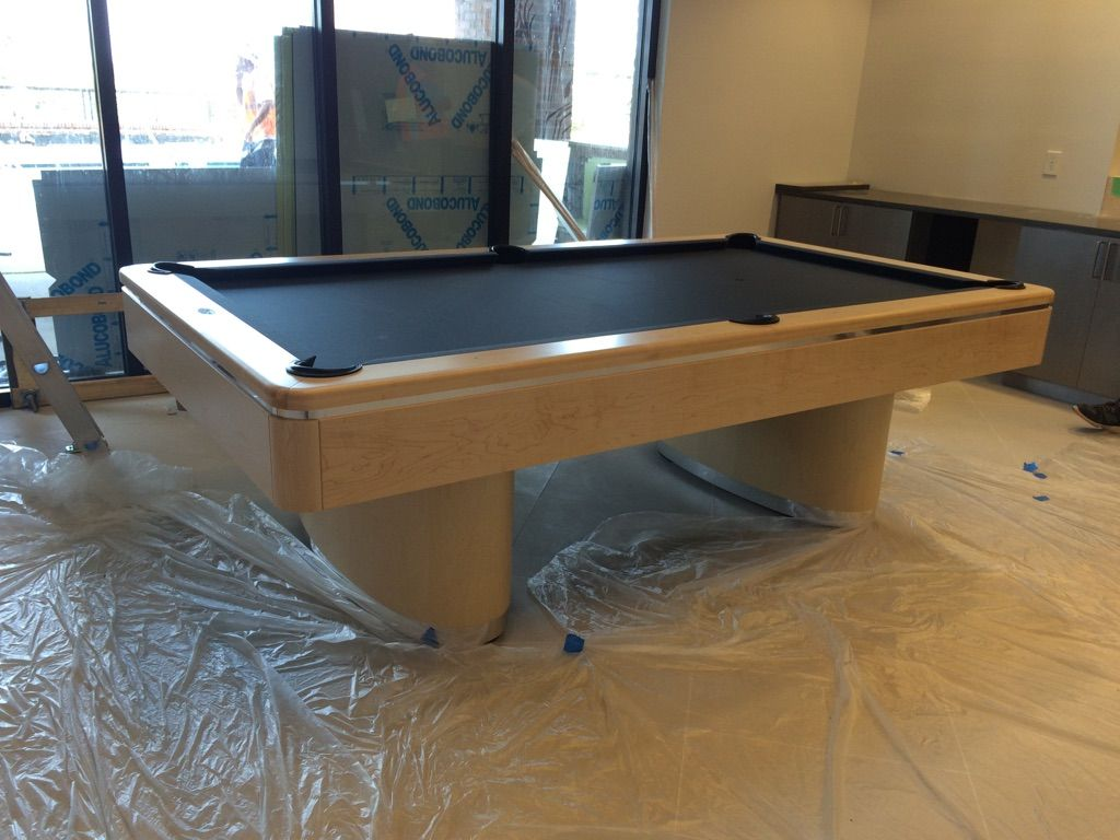 Olhausen Sahara Install. Hard Rock Maple With Chrome Accents. Please Ignore  The Construction Mess · Olhausen Pool TableBeautiful ...