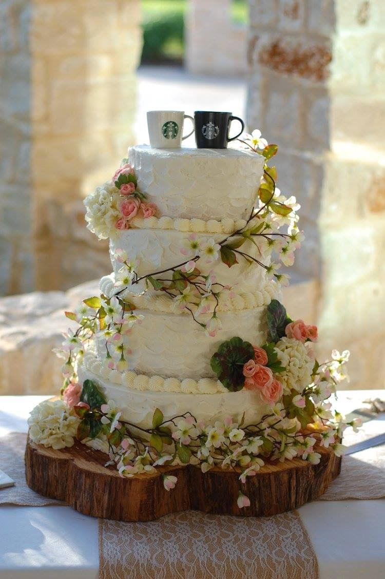 Starbucks Wedding Toppers Country Cake Homemade
