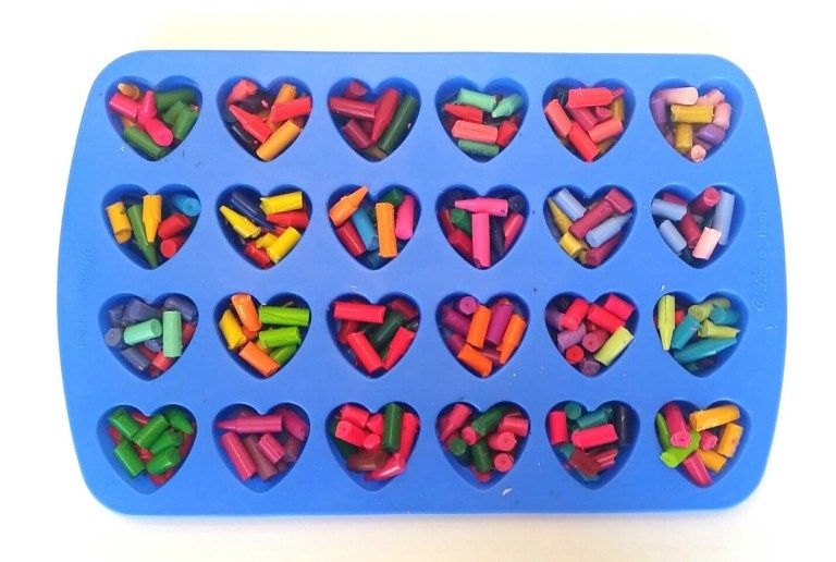 Crayon Heart Valentine and Free Printable ~ One Crazy Ride #crayonheart