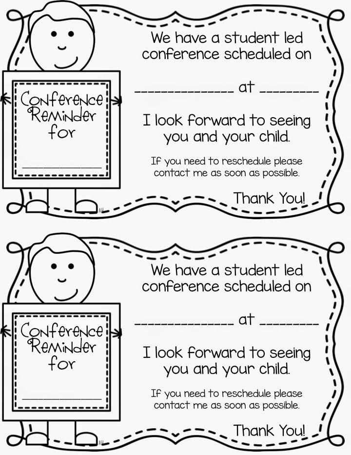 Free Student-led Conference Reminder note! | Student led ... on sports letter template, parent conference letter form, community service letter template, written warning letter template, mediation letter template, kindergarten letter template, reading letter template, writing letter template, restitution letter template, expulsion letter template, dismissal letter template, school letter template, parent invitation template, reprimand letter template, detention letter template, blank meeting minutes template, open house letter template,
