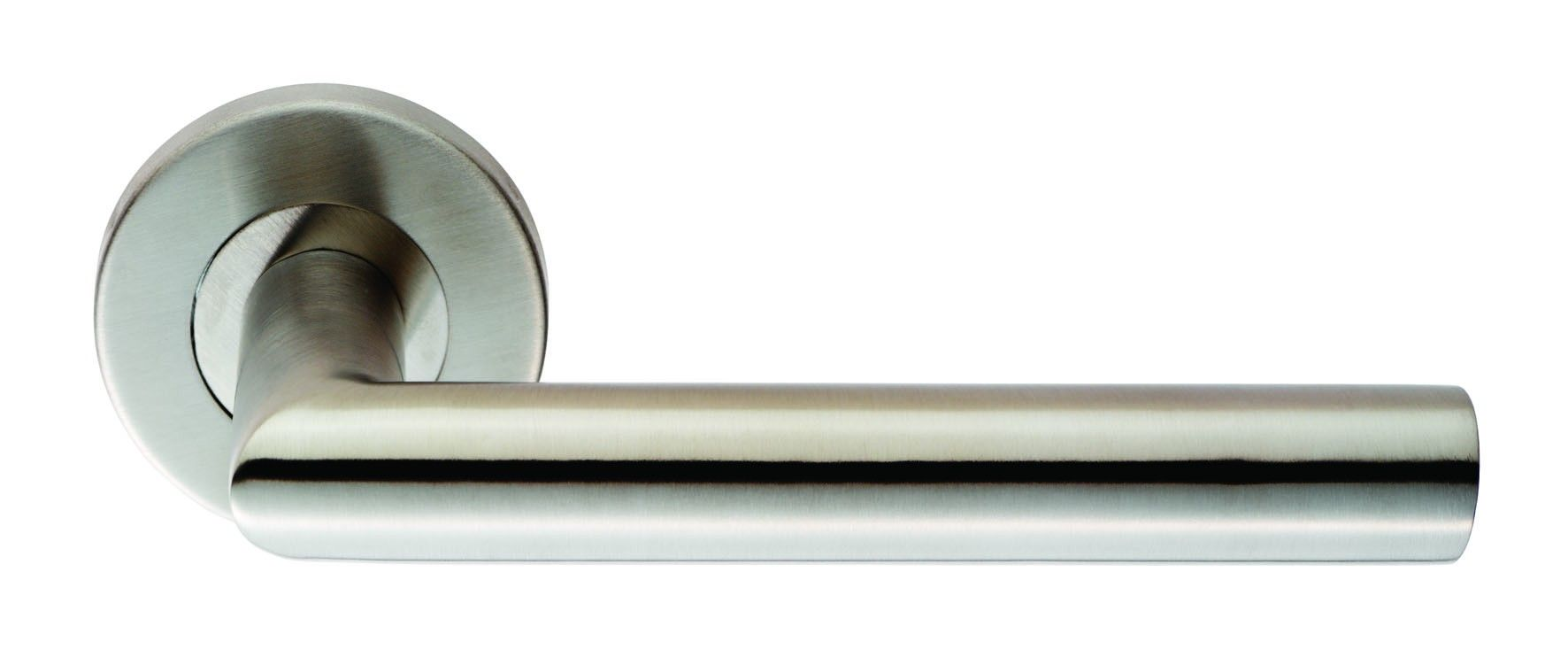 Steelworx Treviri Mitred Door Handle Bright Stainless