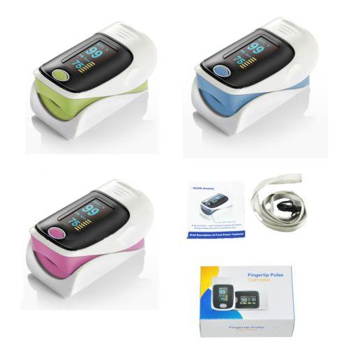 Finger Pulse Oximeter Spo2 Fingertip Blood Oxygen Monitor FDA CMS-50DI