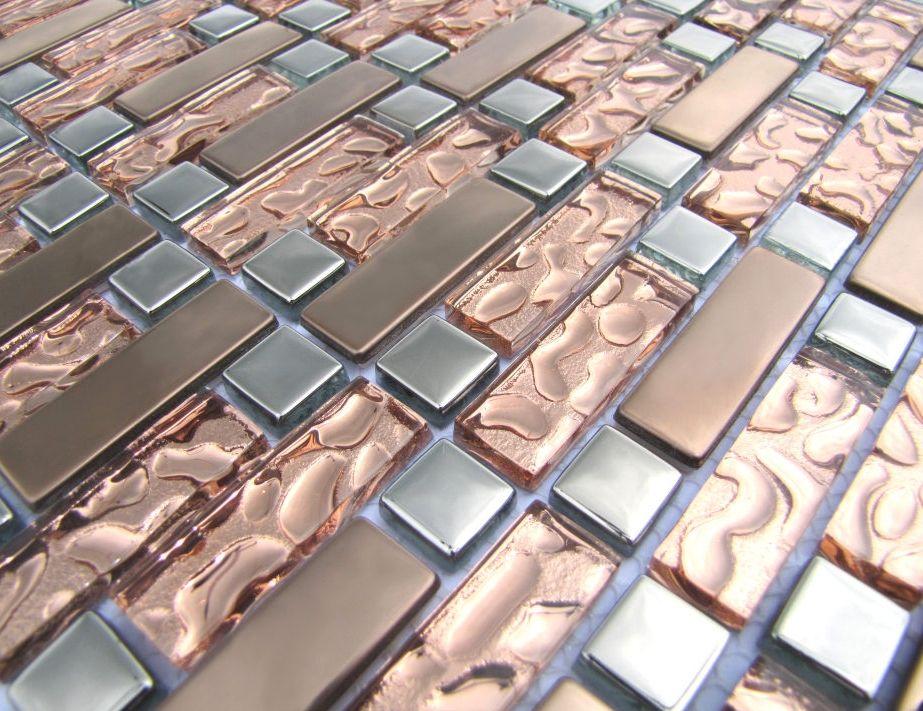 Rose Gold Mosaic Tile Rose Gold Kitchen Rose Gold Bedroom Gold Kitchen