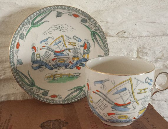 Burleigh Ware/Farmers Arms/Teacup And by MerryLegsandTiptoes