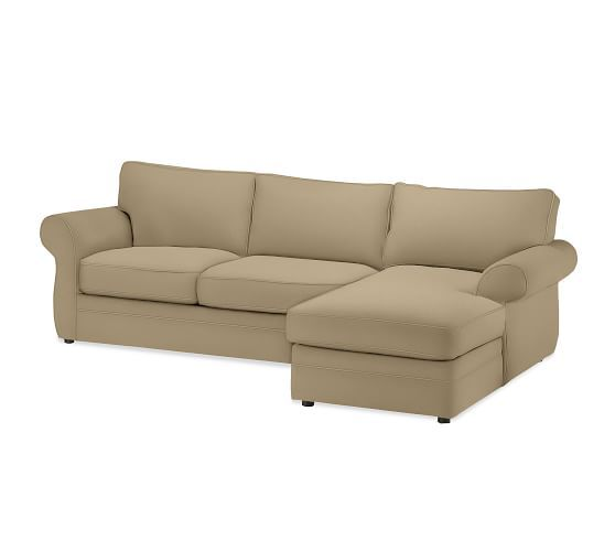 Pearce Roll Arm Upholstered Sofa With Chaise Sectional