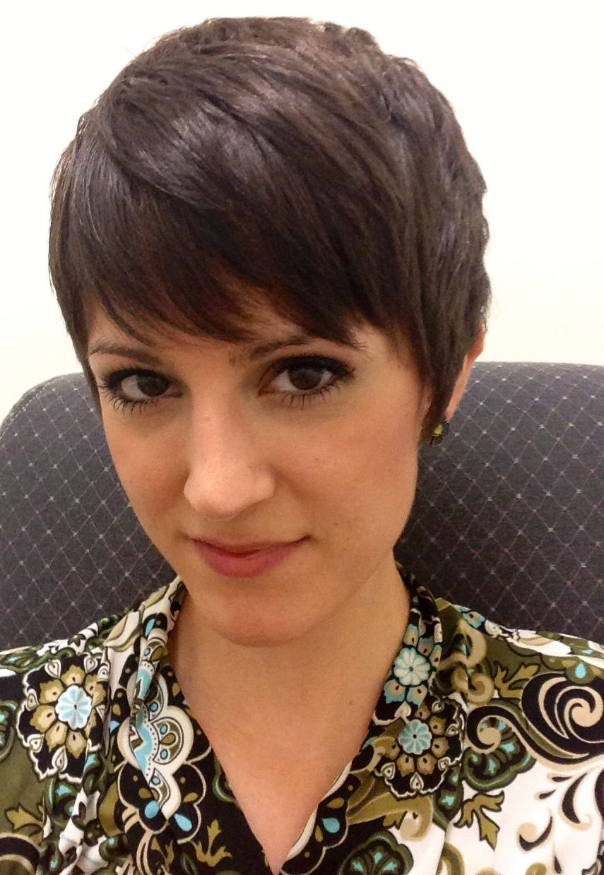 My current pixie cut growing out the bangs again hair