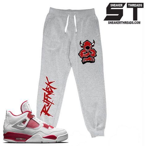 d89d6f3d218 Sweatpants match Jordan 4 alternate retro 4 joggers. | Fresh ...