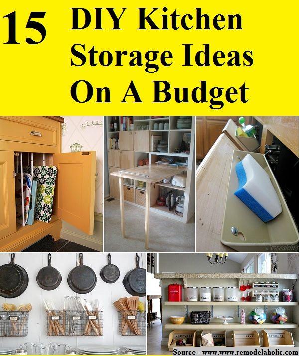 Attractive Inexpensive Kitchen Storage Ideas Part - 10: House · 15 DIY Kitchen Storage Ideas On A Budget
