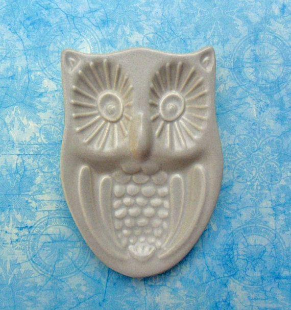 Pfaltzgraff Yorktowne Owl Spoon Rest 60s Kitchen By