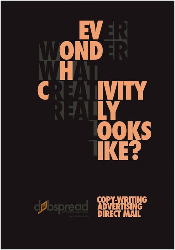 Typographic Book Cover Inspiration : Ultra creative typographic poster designs