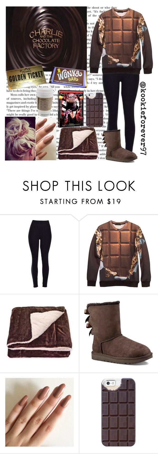 """""""🍫Chocolate🍫"""" by kookieforever97 ❤ liked on Polyvore featuring Pem America, UGG Australia, Casetify, chocolate and charlie"""