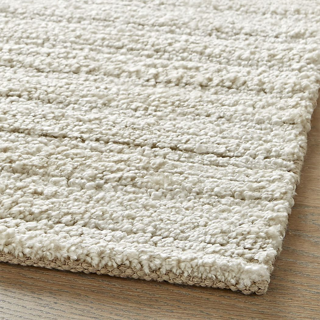 Shop Gabor Ivory Hand Woven Rug Ever So Subtly Striped In Ivory Toned Neutrals The Gabor Rug Mixes Durable Wool With Handwoven Rugs Rugs On Carpet Woven Rug