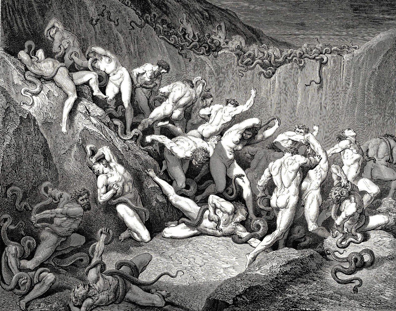 Resultado de imagen para ilustraciones de Dore para la Divina Comedia