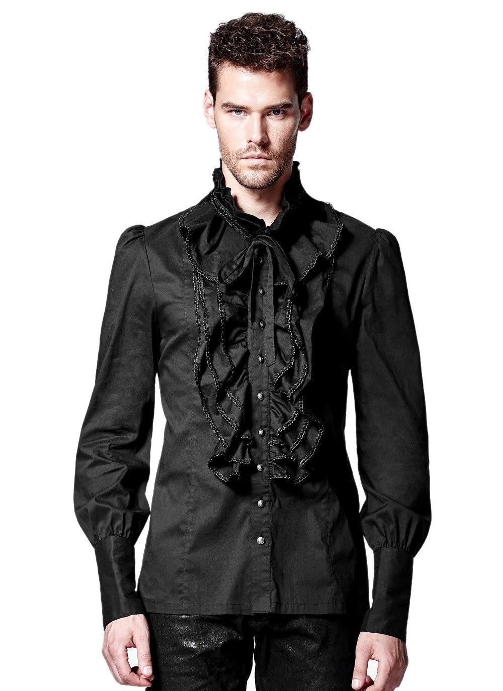 Homme Gothique En Vêtements Jabot 1qvqwz Chemise 2019 À Victorienne wzqF1
