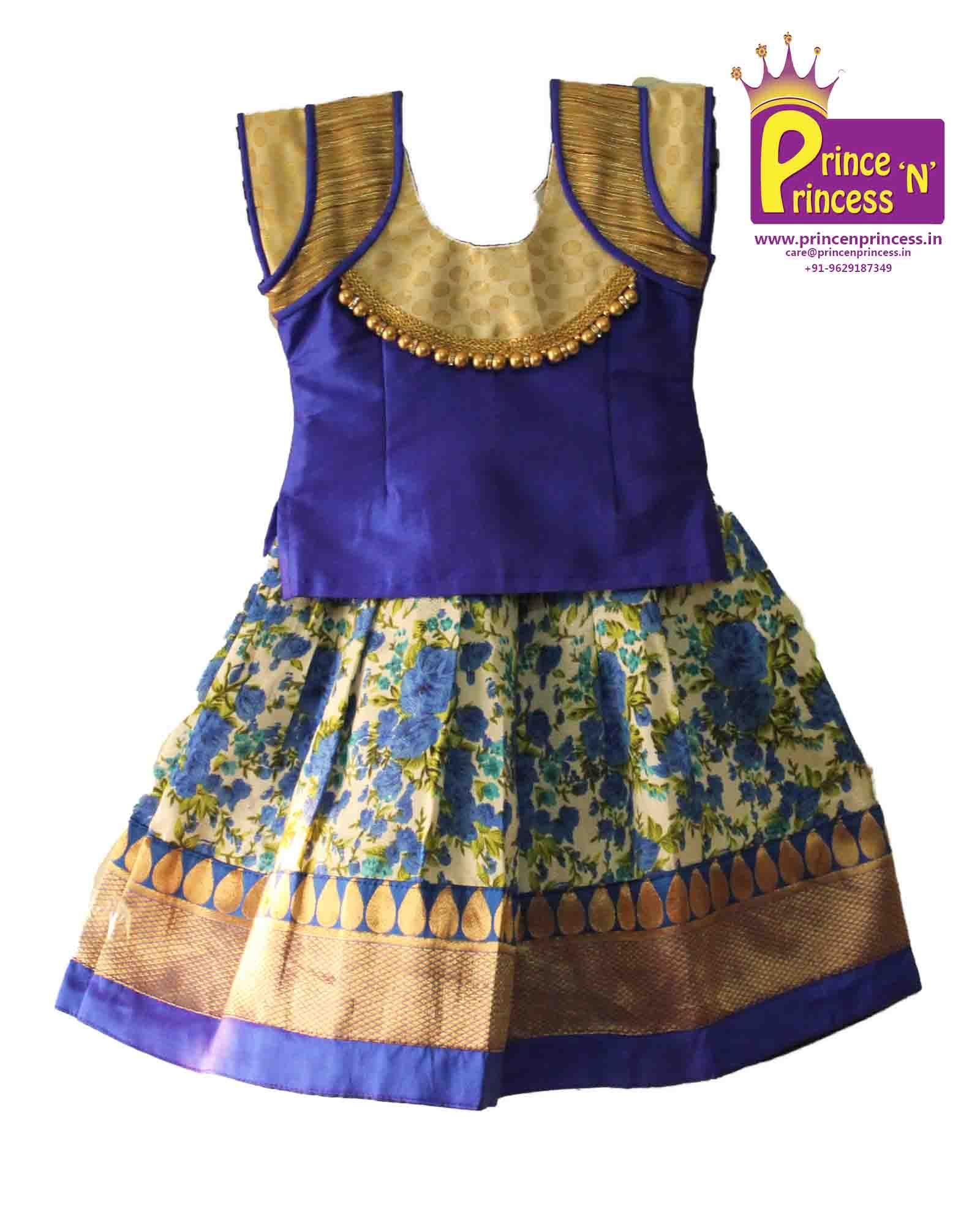 2125ad646fa8 Baby Gown · Kids Beautiful Traditional   Ethnic Floral design Pattu Pavadai  Langa Kids Lehenga