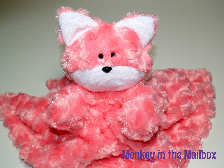 Fox Lovey blanket, minky satin security blanket, Lovie Stuffed Animal, Easter, first birthday, baby shower gift, custom plush Valentine #securityblankets
