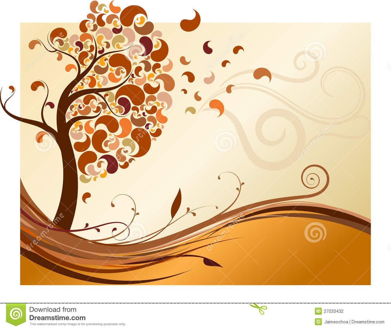 Images For > Autumn Trees And Leaves Drawing   Easy ...