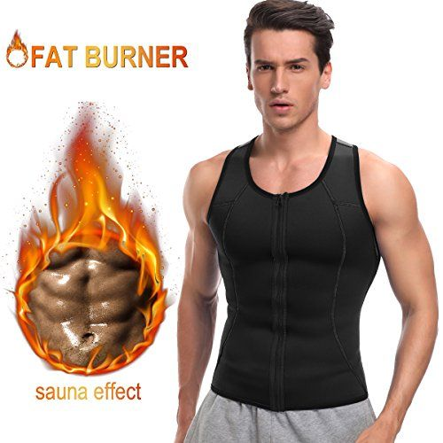 714aa35cac HOPLYNN Men Waist Trainer Vest for Weightloss Hot Neoprene Corset  Compression Sweat vest Body Shaper Zipper Slimming Sauna Tank Top Workout  Shirt