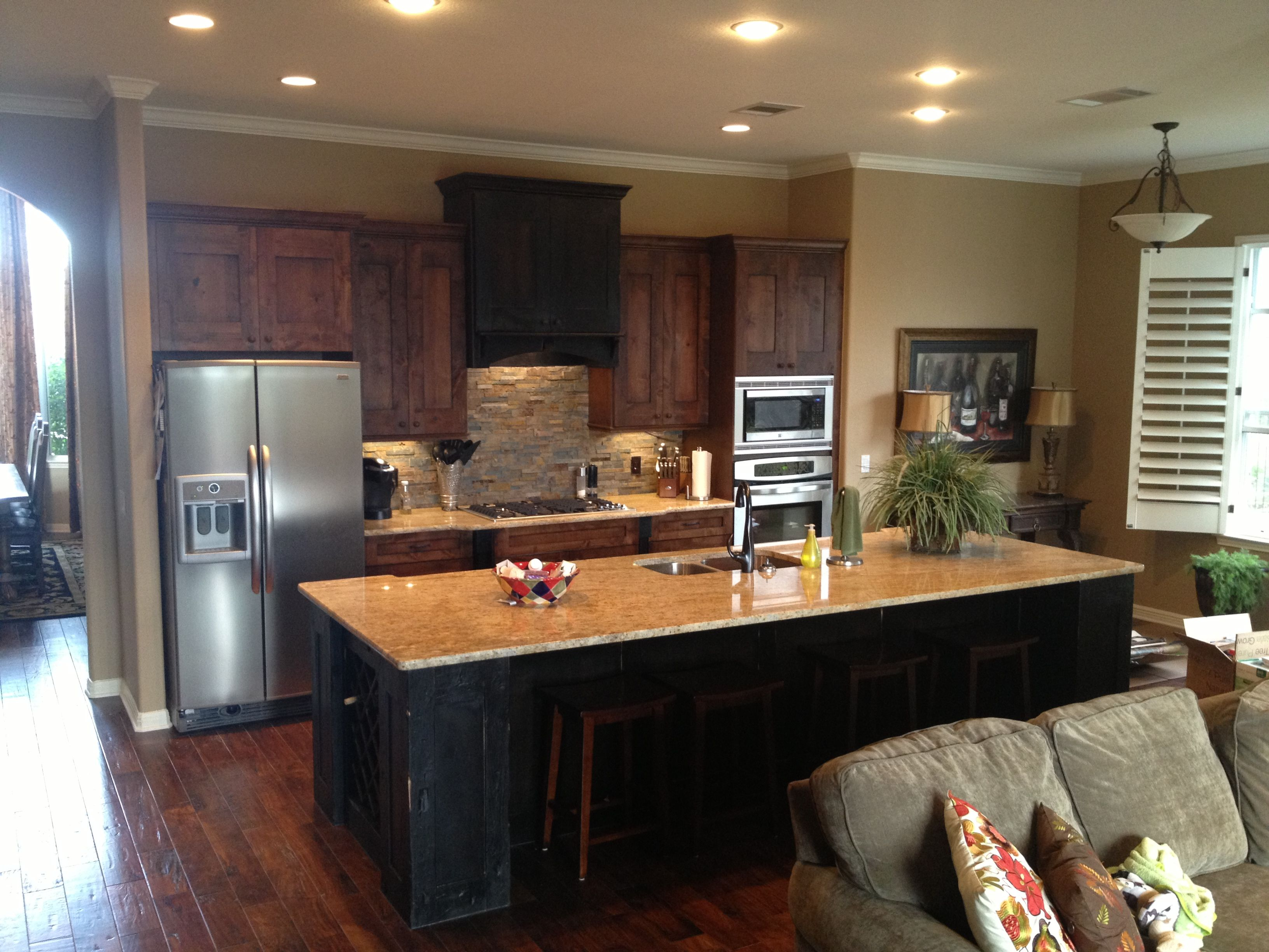 Rustic Alder Kitchen by Austin Budget Cabinets | Home ...