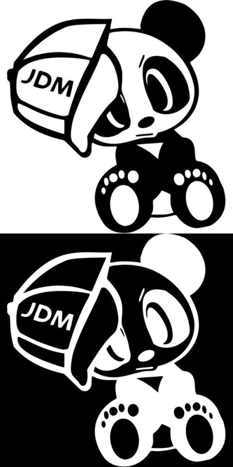 Visit To Buy 14 7cm 15 2cm Panda Jdm Vinyl Cute Animals Decal Sticker And Motorcycle Decorating Stickers Black Sliver C8 0851 Adverti Jdm Jdm Stickers Vinyl [ 1600 x 800 Pixel ]
