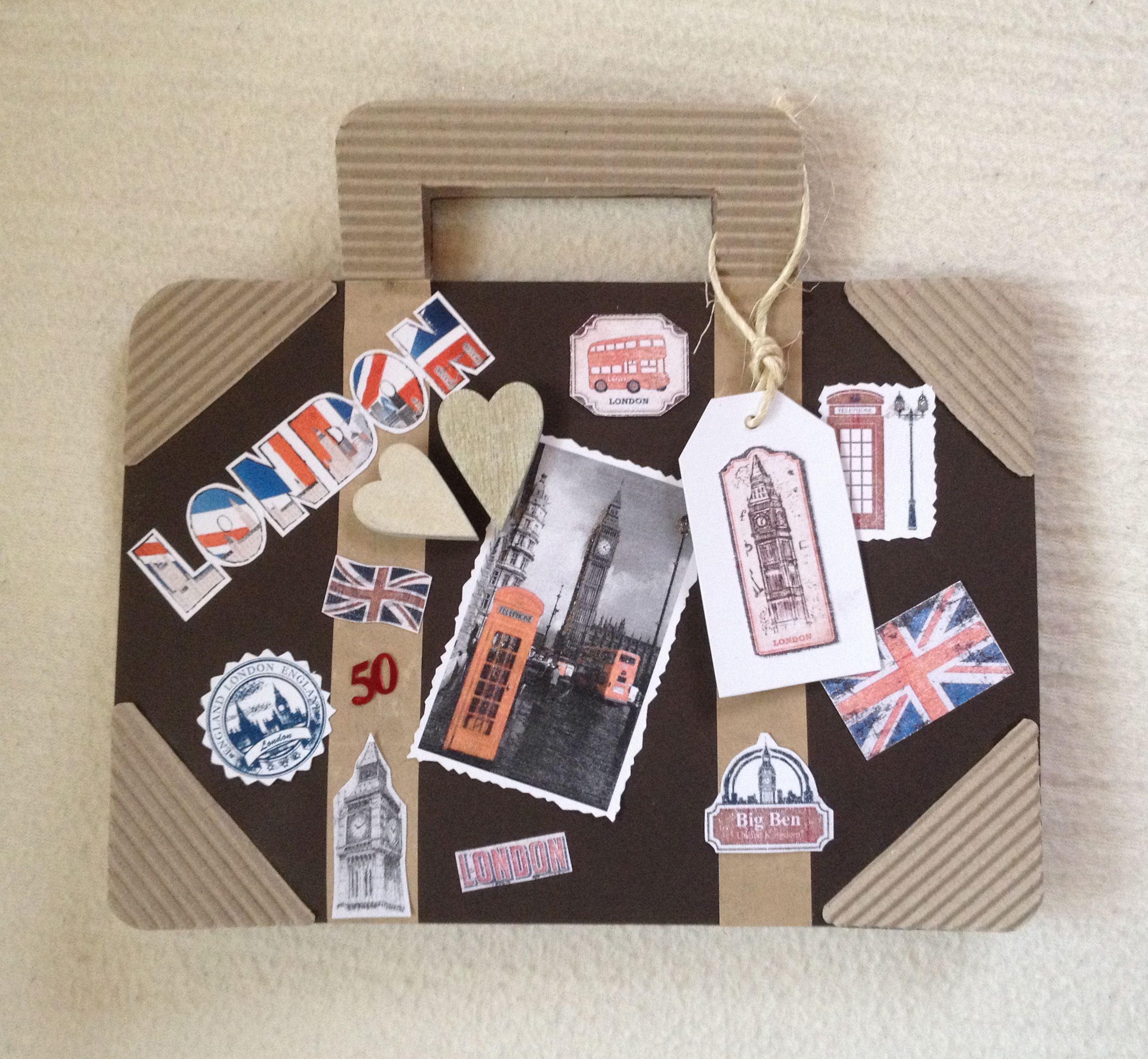 geburtstagskarte london koffer karten basteln koffer basteln reise geschenke und. Black Bedroom Furniture Sets. Home Design Ideas