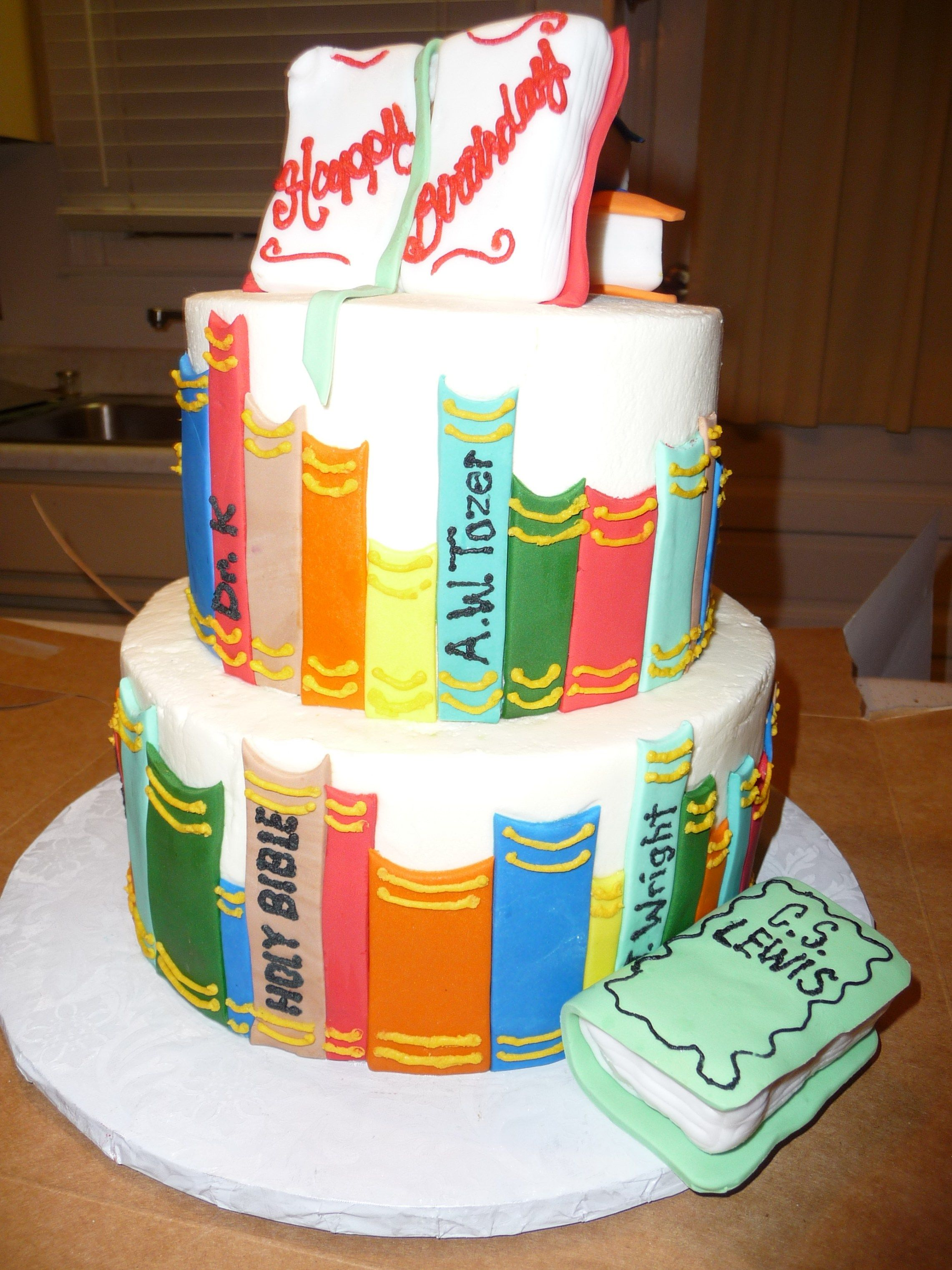 Awe Inspiring Book Birthday Cake 7 Book Themed Birthday Cakes Photo Book Themed Funny Birthday Cards Online Alyptdamsfinfo